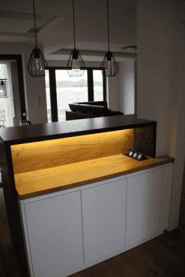 Meble kuchenne szafka podświetlana
