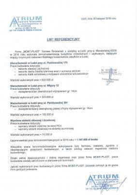 Referencja - termomodernizacja budynków mieszkalnych i użytkowych.